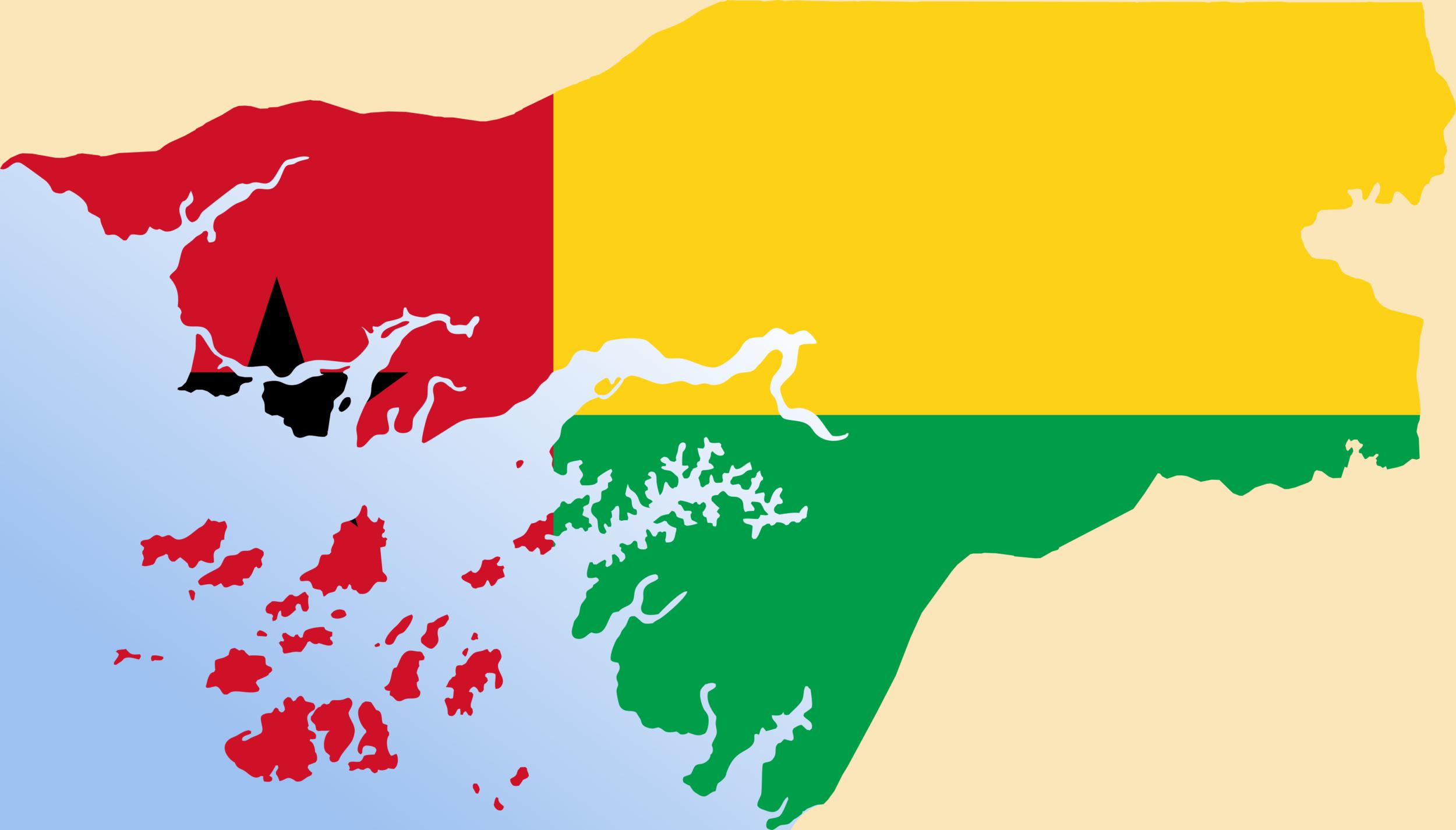 Guinea Bissau, mappa e bandiera