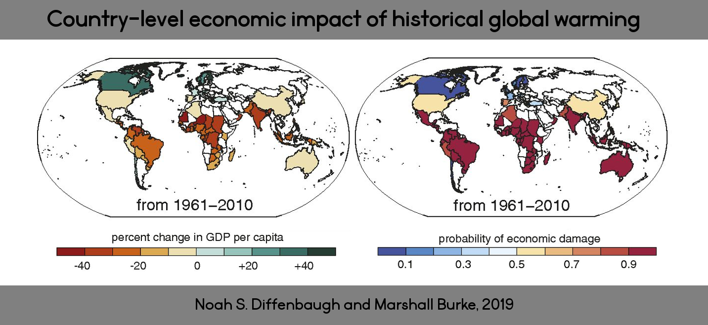 Country-level economic response to global warming. Noah S. Diffenbaugh and Marshall Burke, 2019