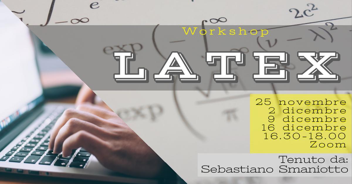 Copertina evento workshop LaTeX